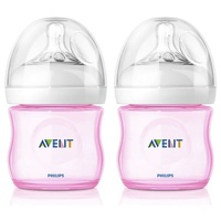 Philips Avent Natural Feeding Bottle 125ml 2PK (Pink) 0m+